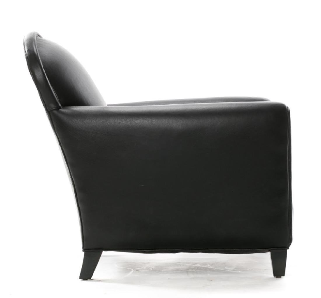 Leather Crate & Barrel Deco Style Club Chair - 3
