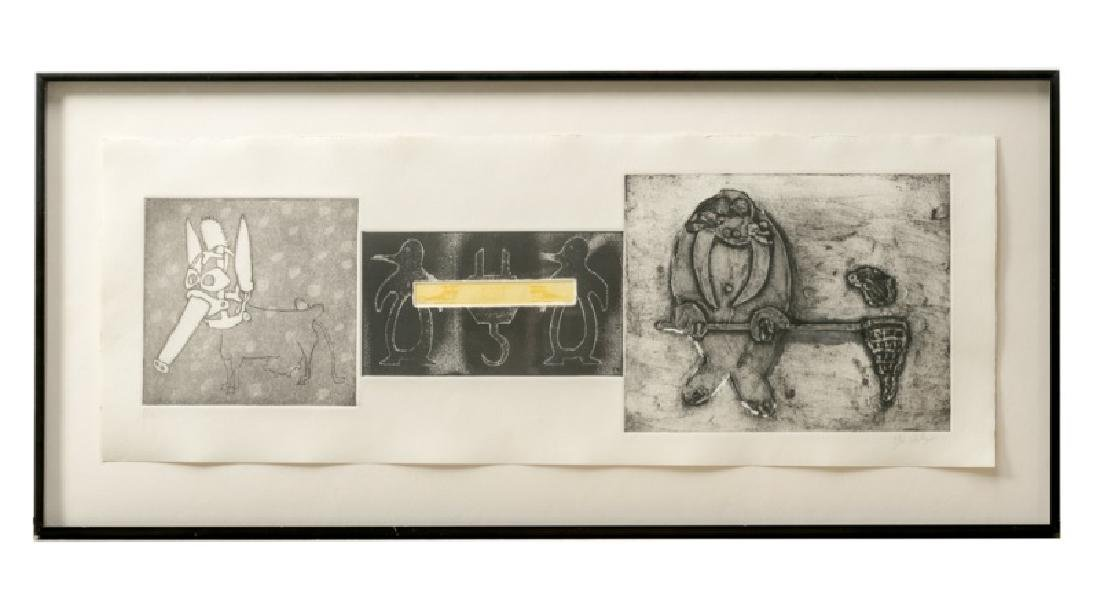 Tyler Stallings Embossed Print, Comedic Animals
