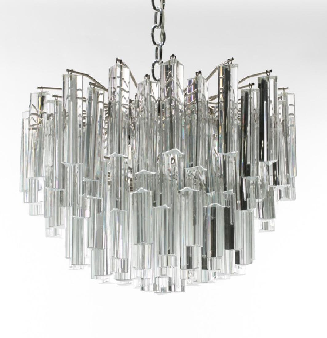 1970s Italian Murano Glass Chandelier by Camer