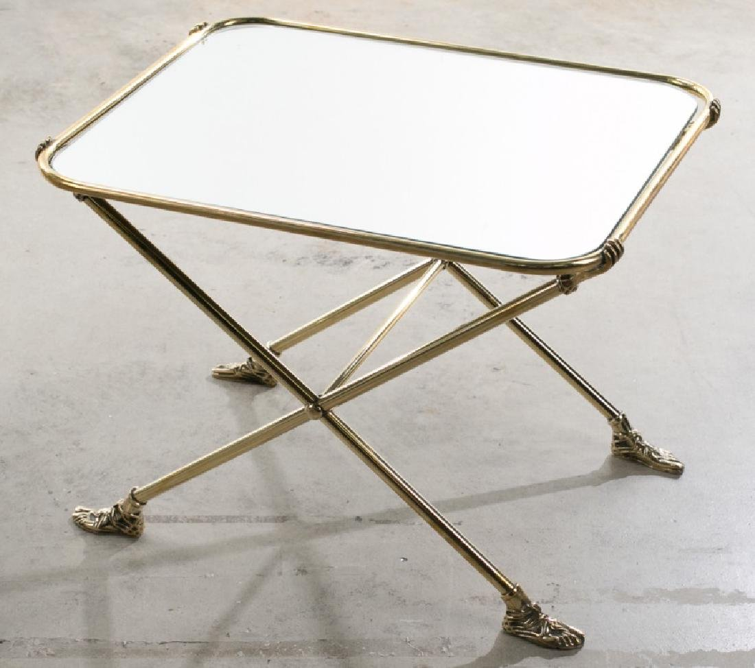 Pair of Fornasetti Style Mirrored Side Tables - 2