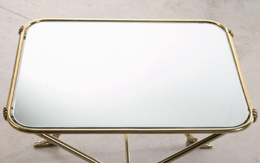 Pair of Fornasetti Style Mirrored Side Tables - 4
