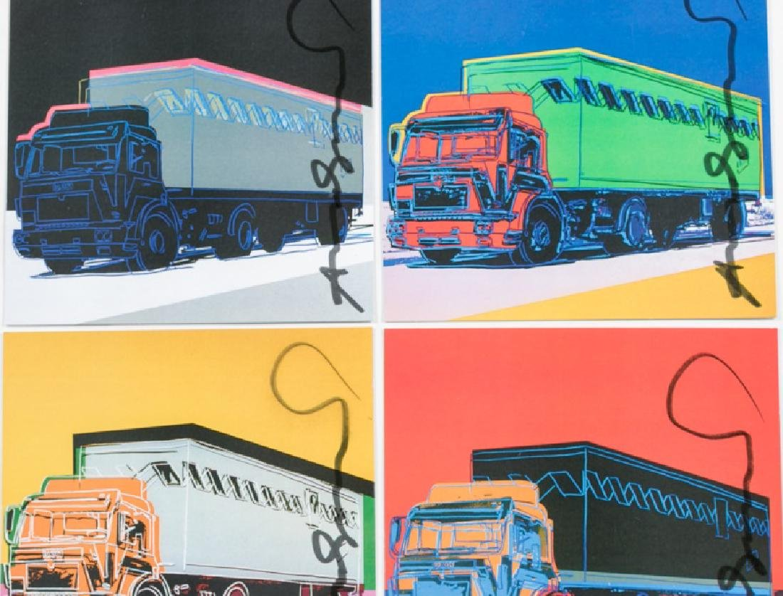 Andy Warhol Invites/Postcards/Signed Truck Suite - 4