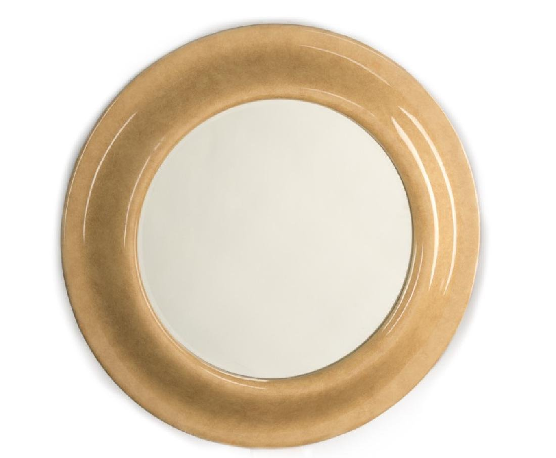 Springer Style Palatial Round Lacquered Mirror