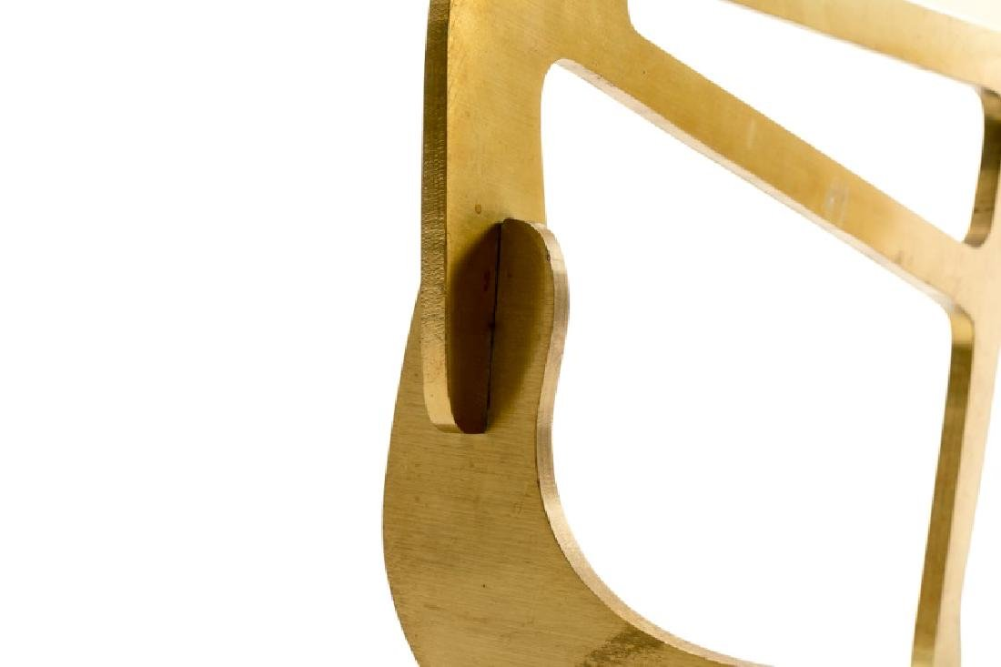 Noguchi Style Brass & Glass Top Coffee Table - 3