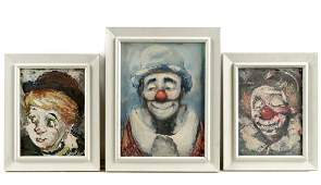 """Group, 3 Jack Cooley """"Happy Clown"""" Works"""