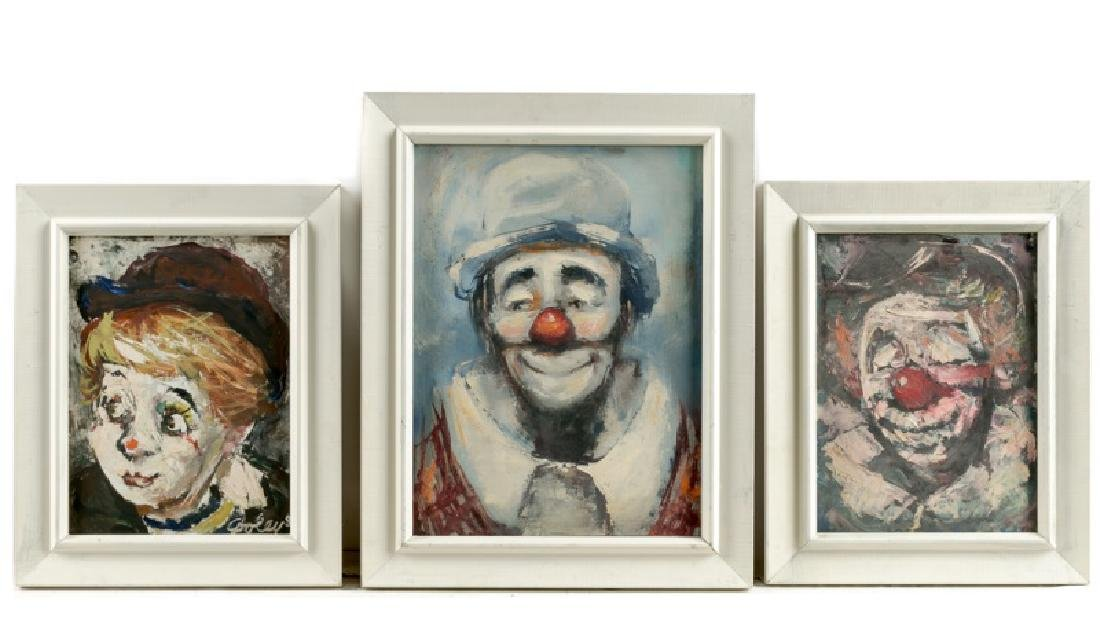 "Group, 3 Jack Cooley ""Happy Clown"" Works"