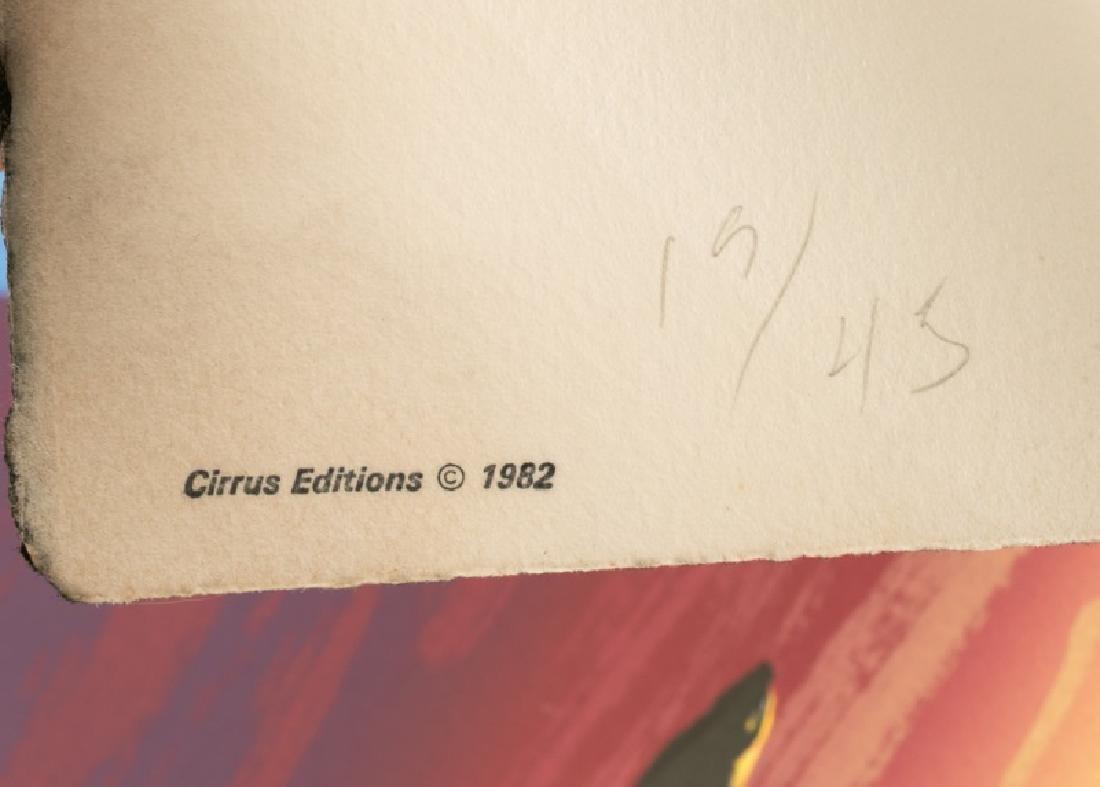 "Jed Garrett Post Modern Signed Litho, ""Nice Sky"" - 3"