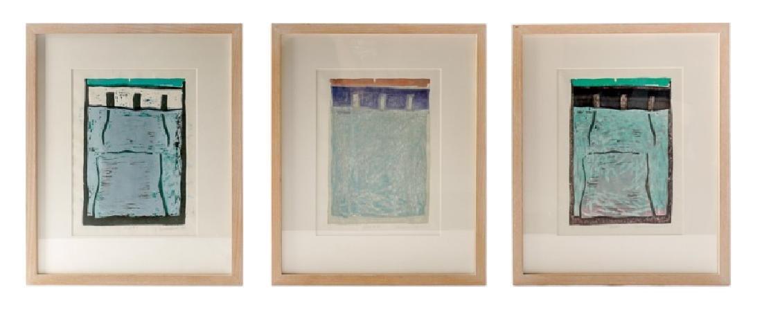 Alexandra Hirsch, Group, 3 Woodcuts, 1987
