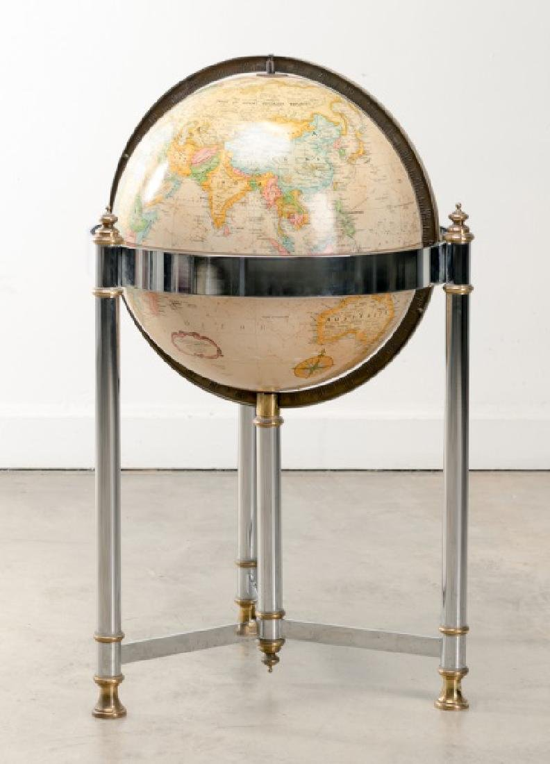MCM Globe on Stand in the Manner of Maison Jansen