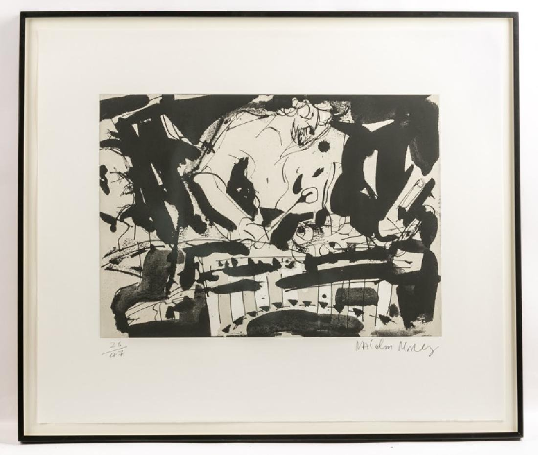 "Malcolm Morley ""Jazz"" Signed Intaglio, 26/47"