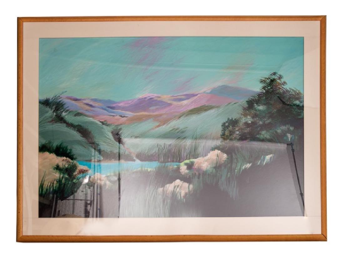Modern Signed Acrylic Landscape, Rick Namors