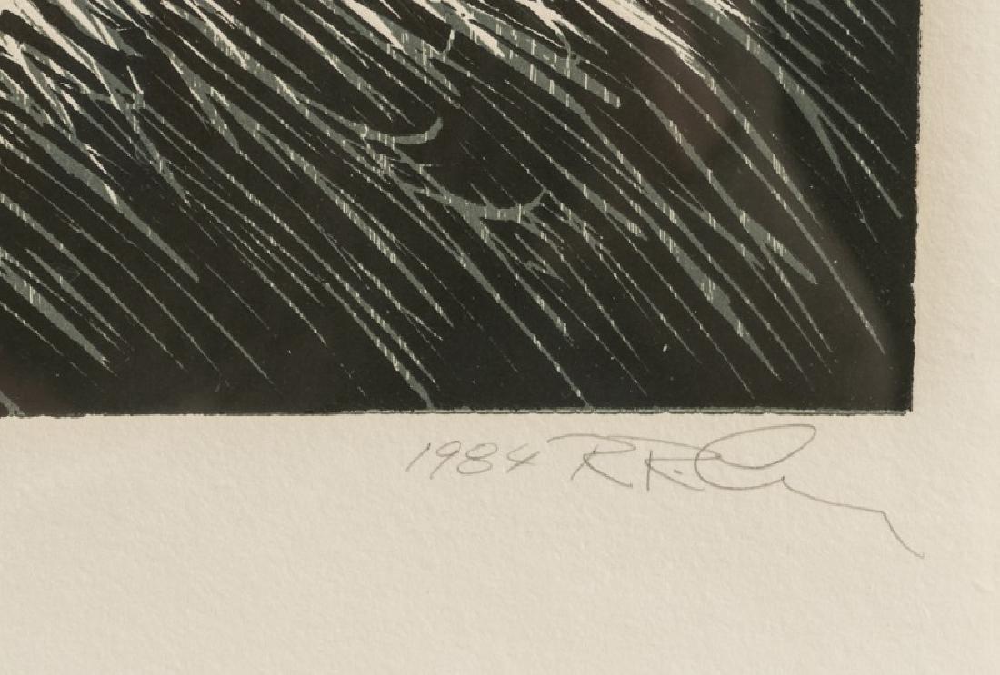 "Rex Lau ""Red Shadows"" Woodcut, 1984 - 2"