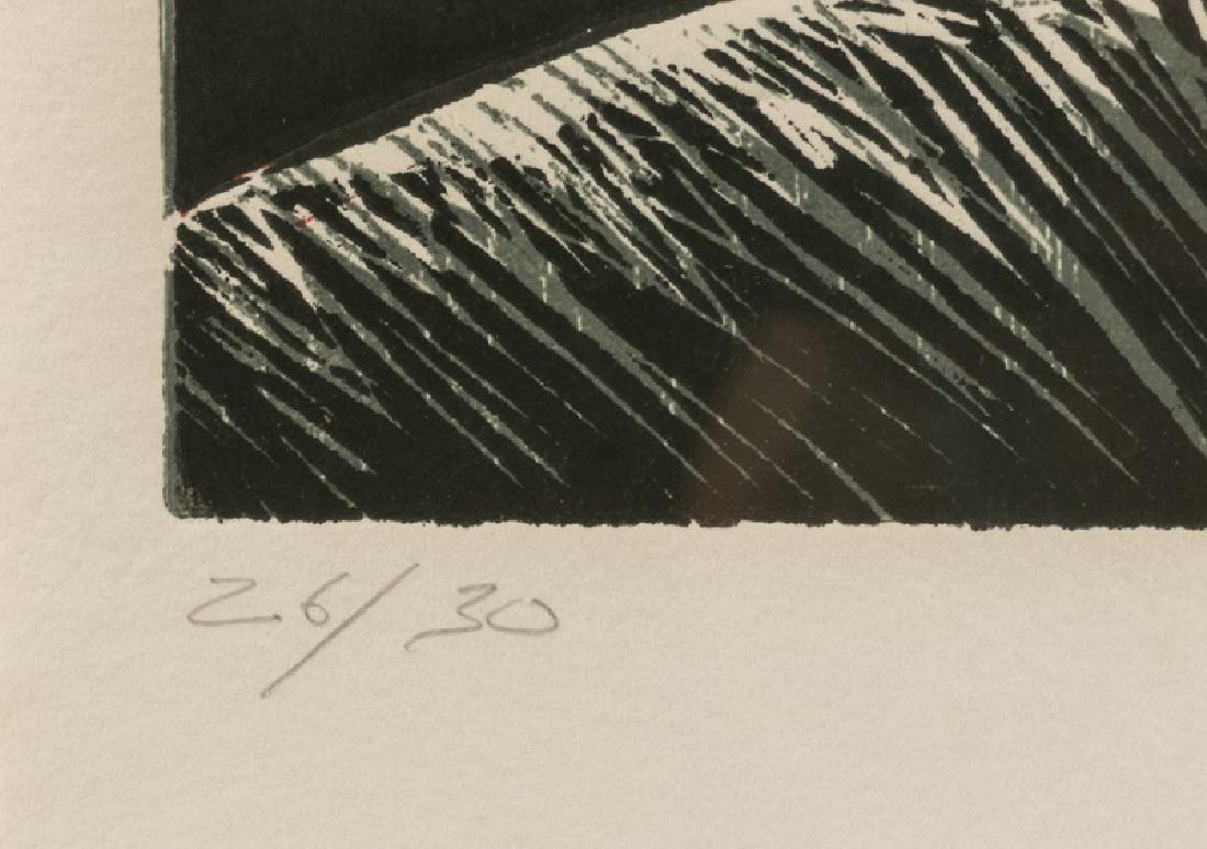 "Rex Lau ""Red Shadows"" Woodcut, 1984 - 3"