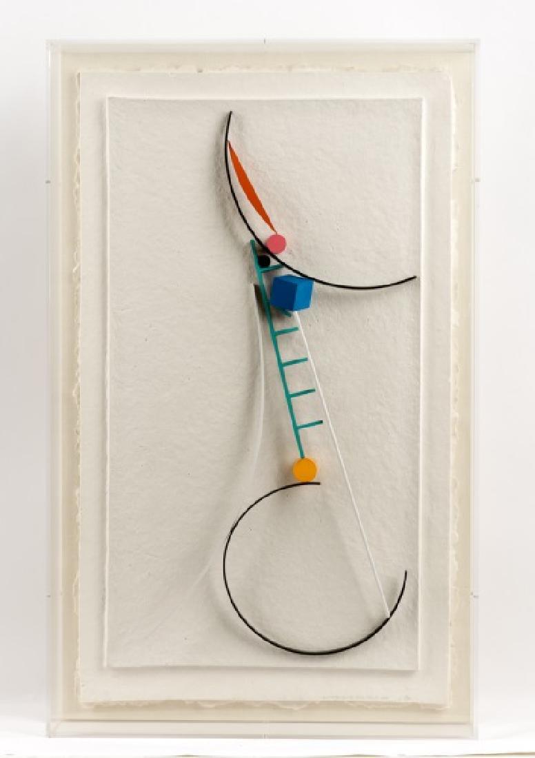 """Fletcher Benton """"Steel Watercolor Paper Series I"""""""