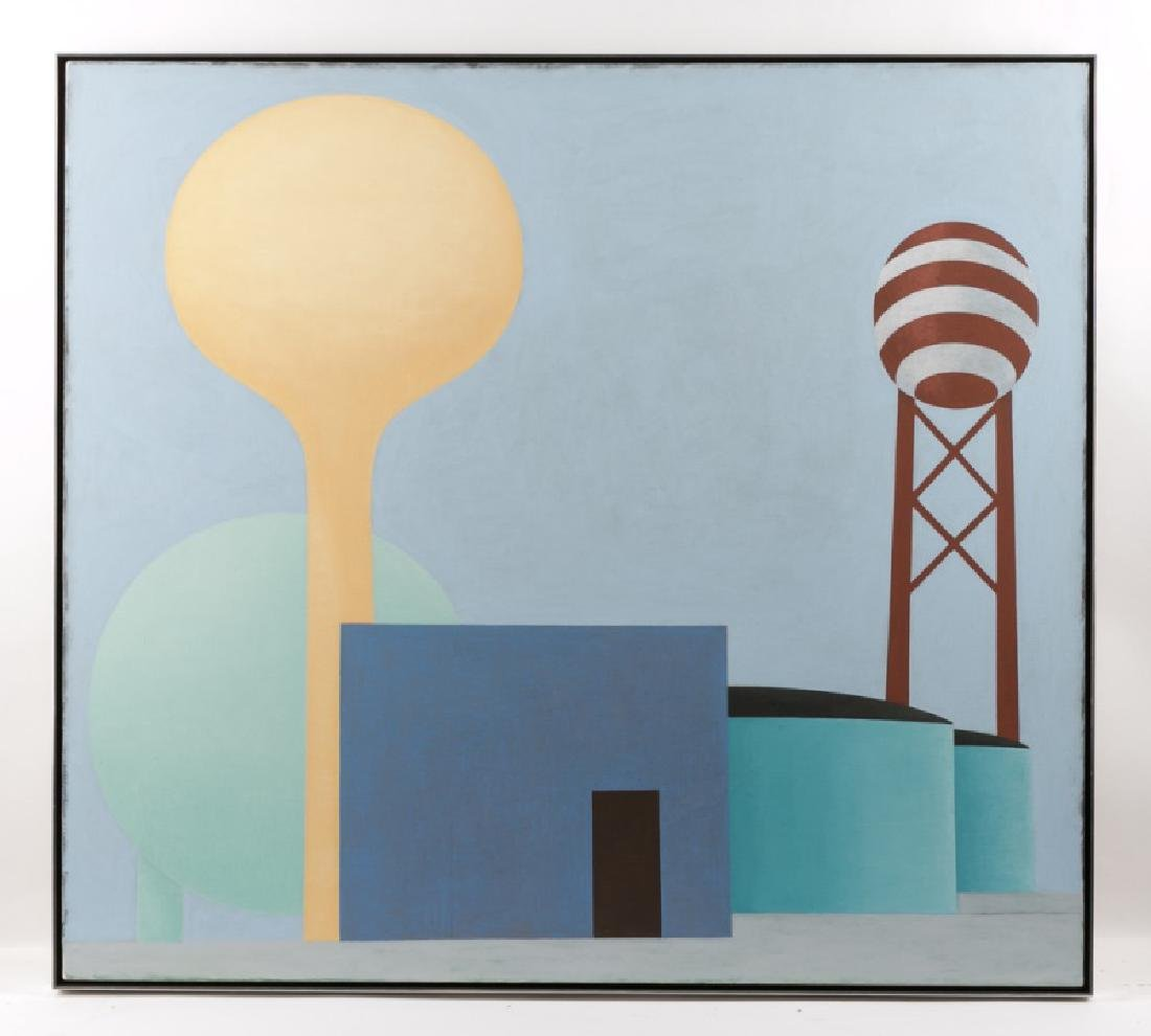 "Howard Walter ""Untitled (Yellow Tower)"" Oil"