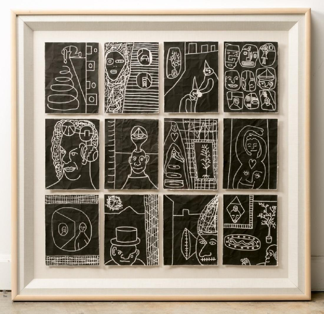 "Robin Winters ""Against the Grain"" Framed Woodcuts"