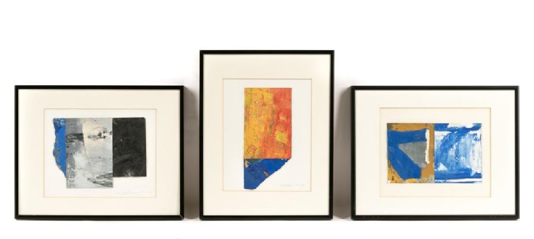 Three Matt Straub Oil on Paper Works, Signed