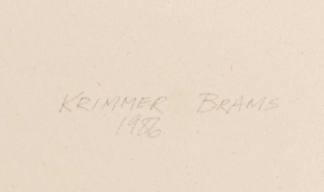"""Elaine Krimmer Brams Signed O/C, 83"""" Long - 2"""
