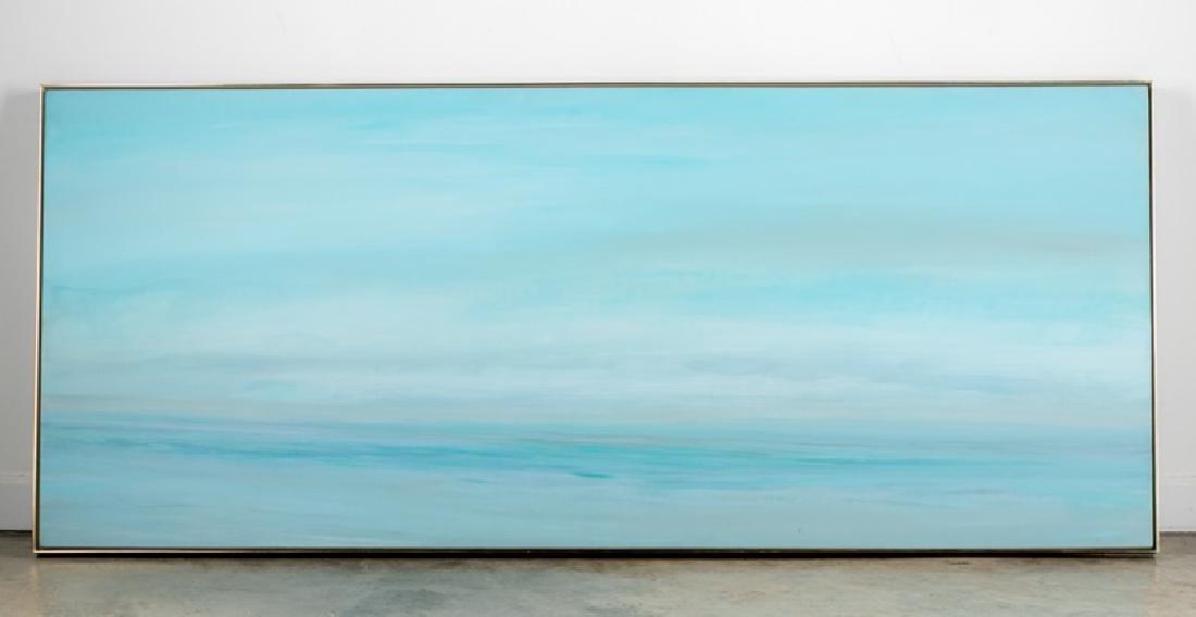 "E. Krimmer Brams Signed Abstract O/C, 83"" Long"