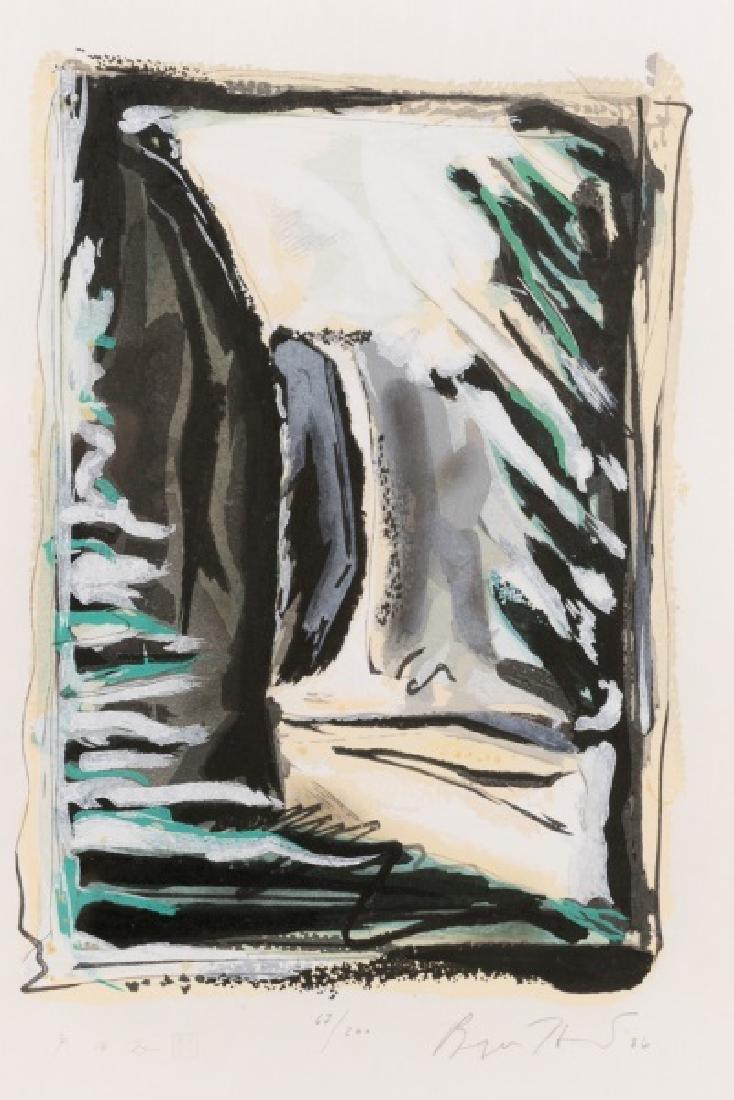 "Bryan Hunt ""Window"" Signed Woodcut, 1986 - 2"
