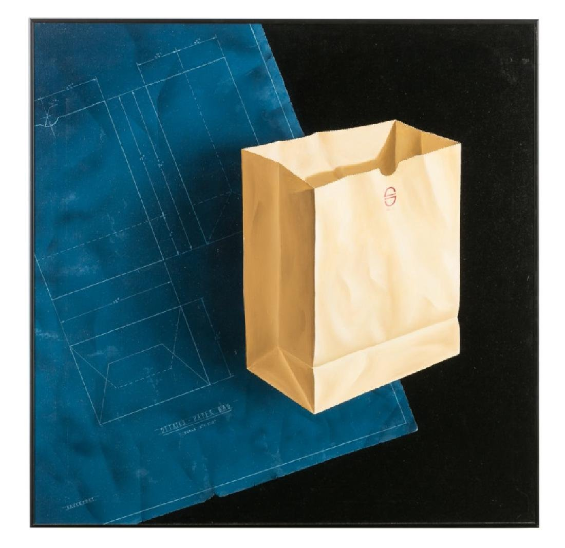 """Ray Davenport """"Paper Bag"""" Oil on Canvas"""