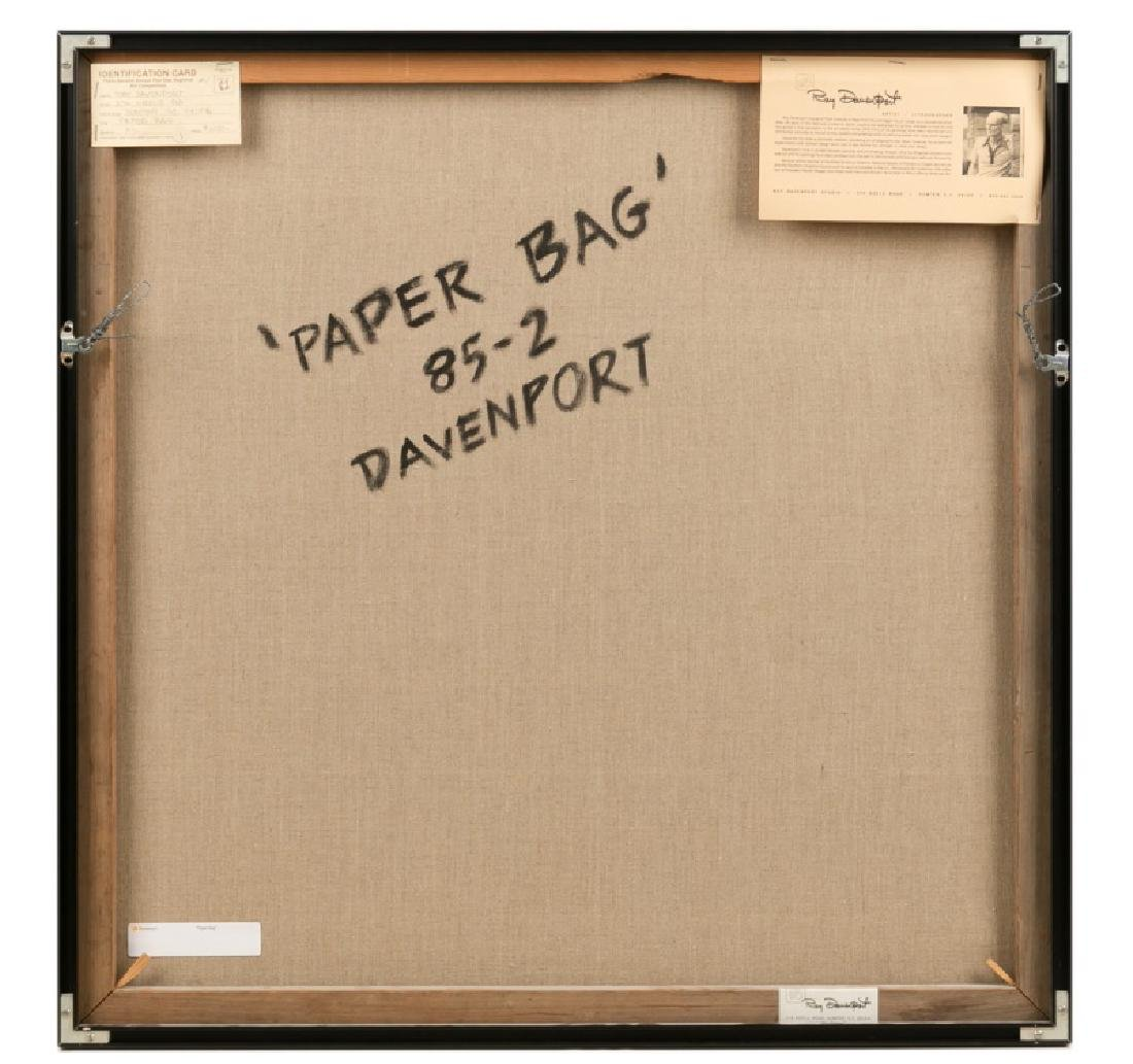 """Ray Davenport """"Paper Bag"""" Oil on Canvas - 5"""