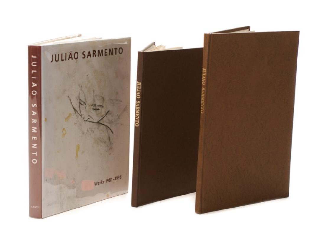 Group of 3 Books on Juliao Sarmento, 1 Signed