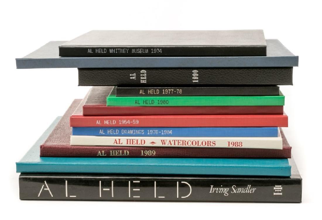 Group of 12 Art Books on Al Held
