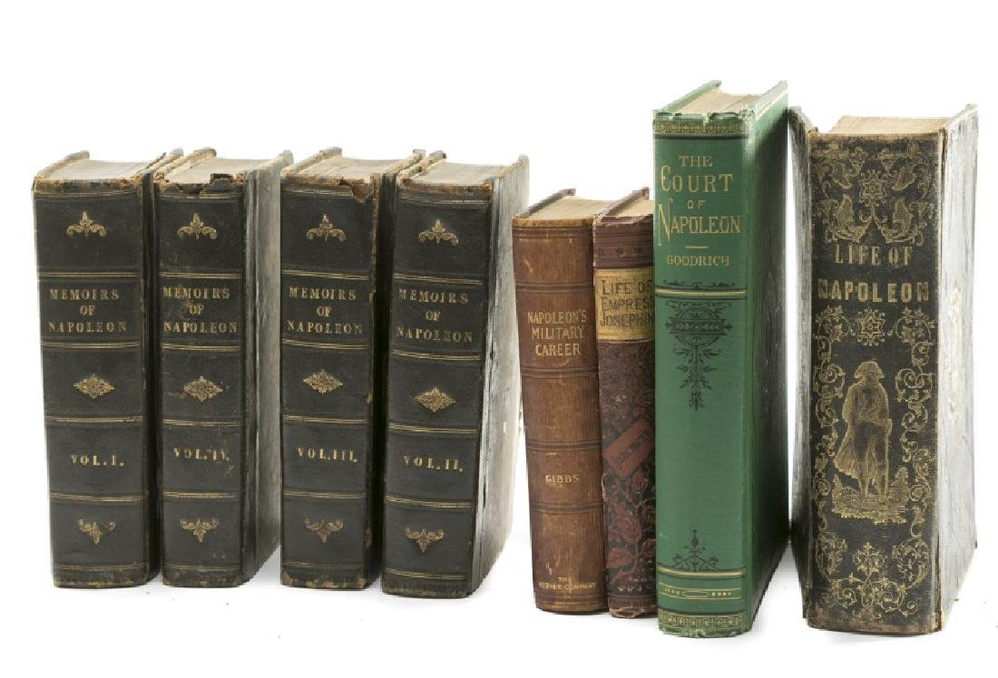Group of 8 Books on the Life of Napoleon Bonaparte