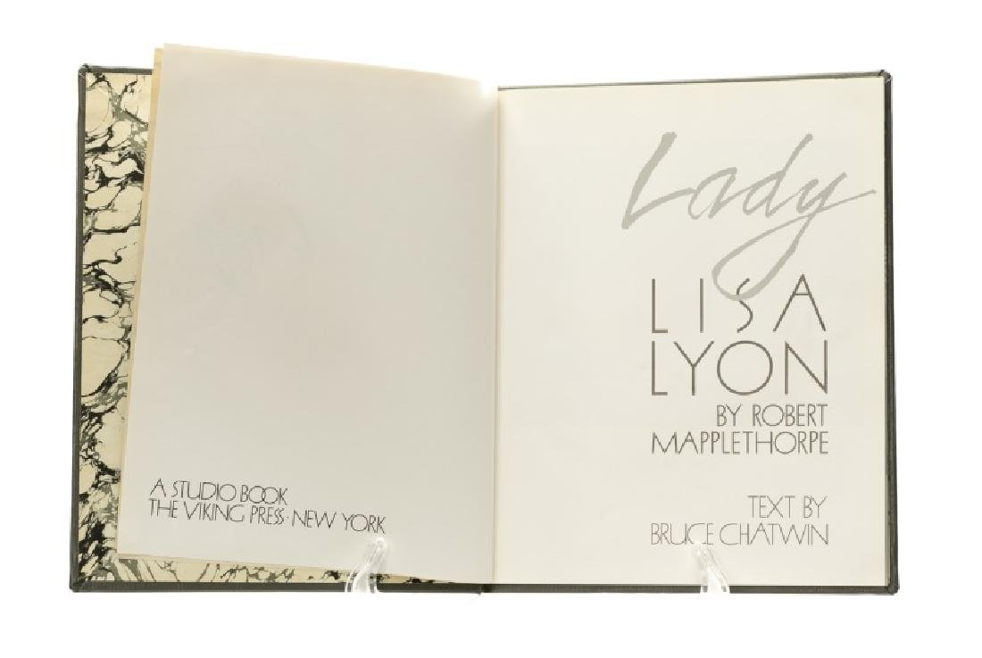 "Signed ""Lady Lisa Lyon"" by Robert Mapplethorpe"
