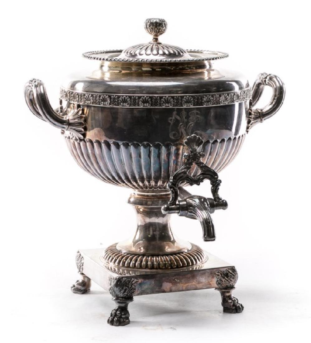 19th C. English Sheffield Plated Hot Water Urn