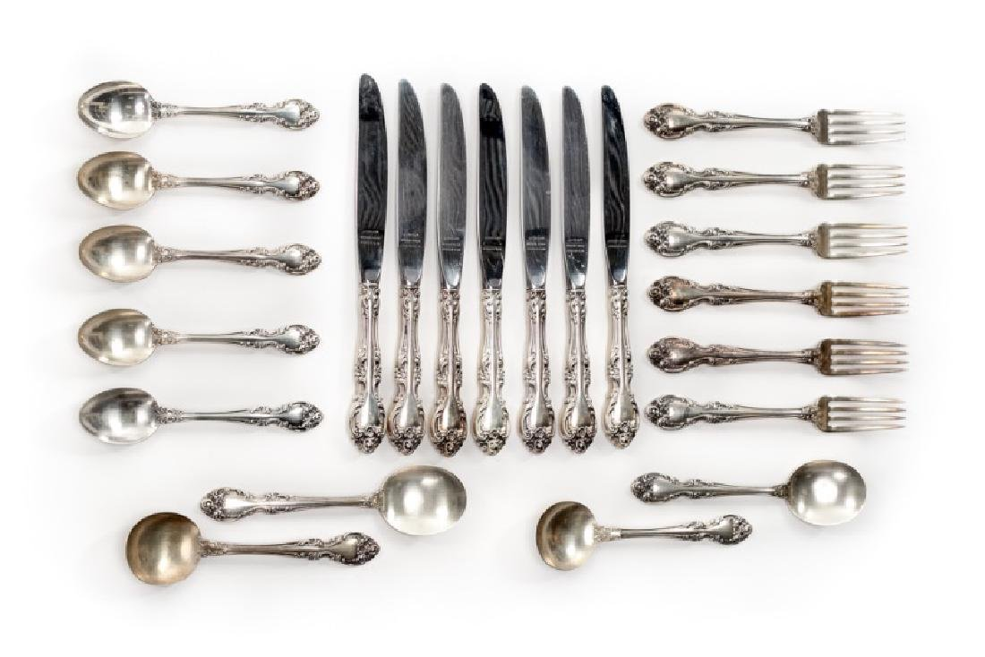 "22 PC Gorham Sterling ""Melrose"" Flatware Set"