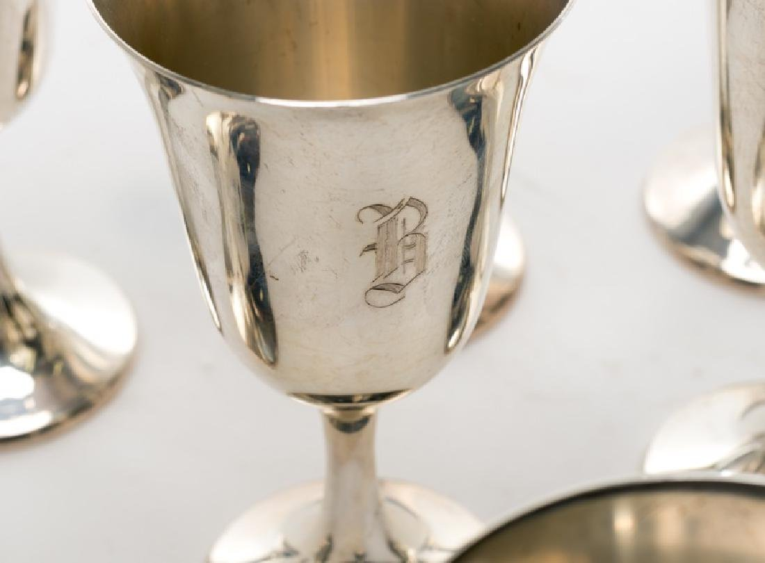 Set of 12 Manchester Sterling Silver Goblets - 2