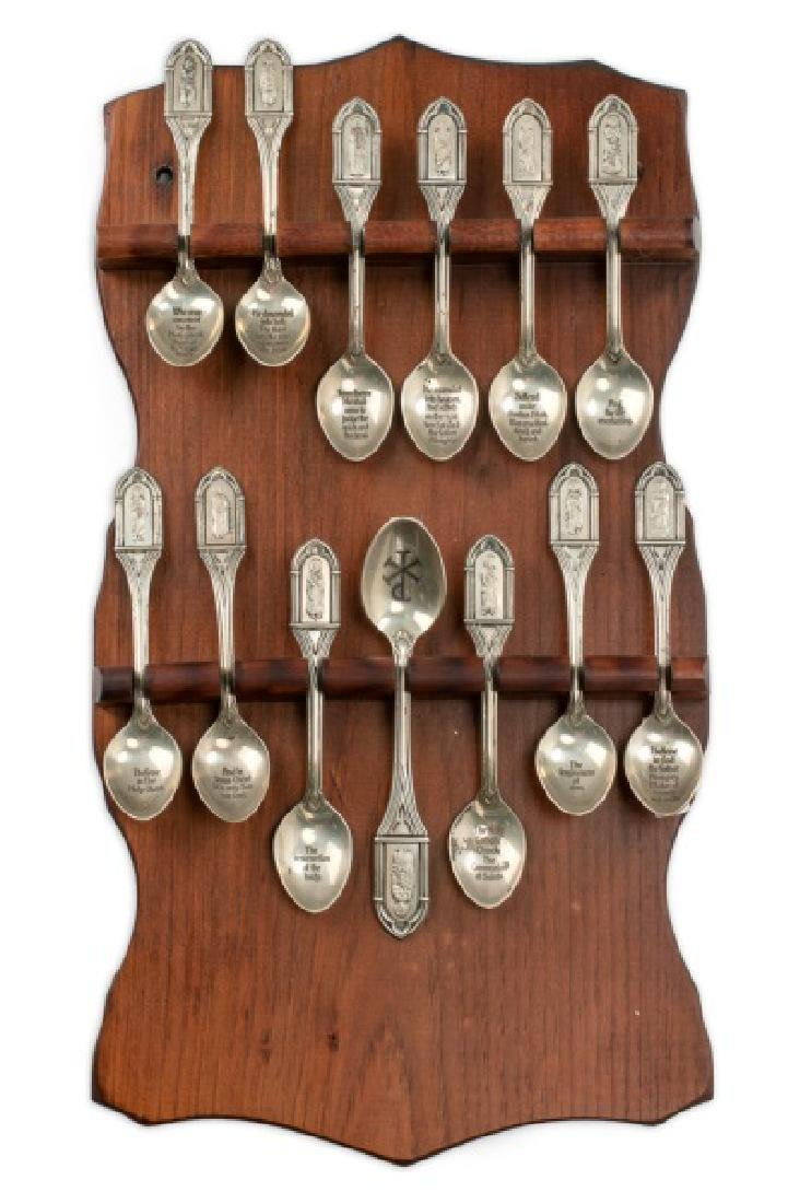 Franklin Mint Apostle's Creed Sterling Spoon Set