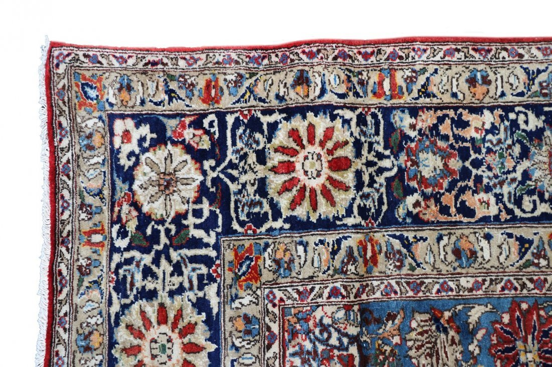 "Hand Woven Isfahan 8' 7"" x 13' 1"" - 3"