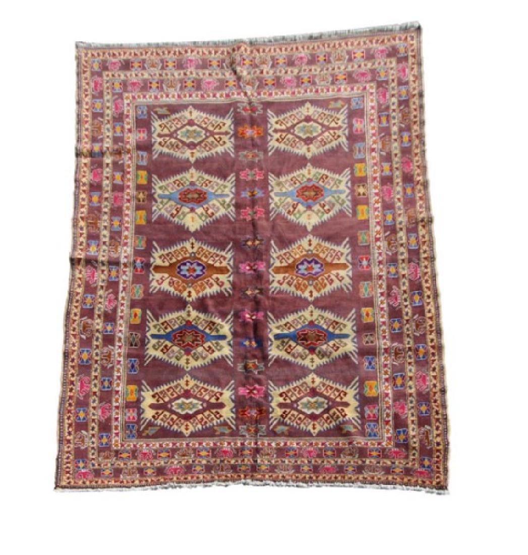 Hand Woven Persian Samarghand 6' 8'' x 8' 5''