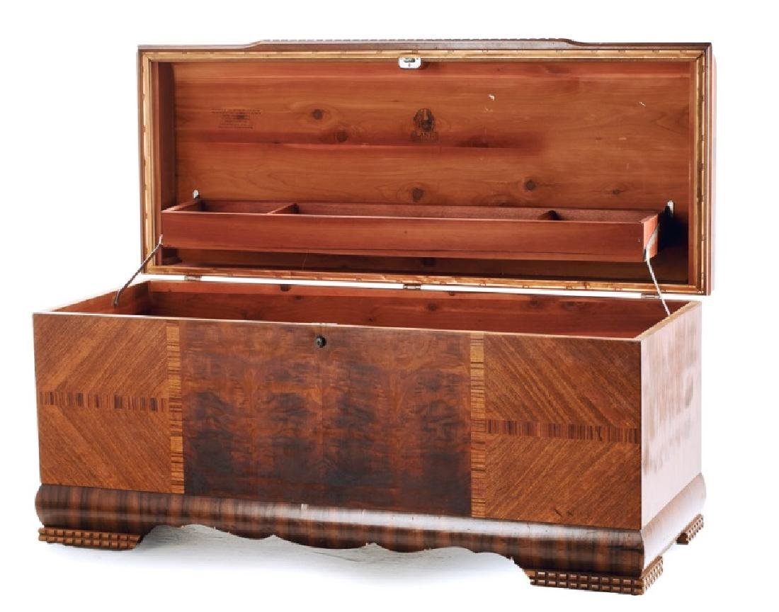 1940's Lane Cedar Chest with Waterfall Top