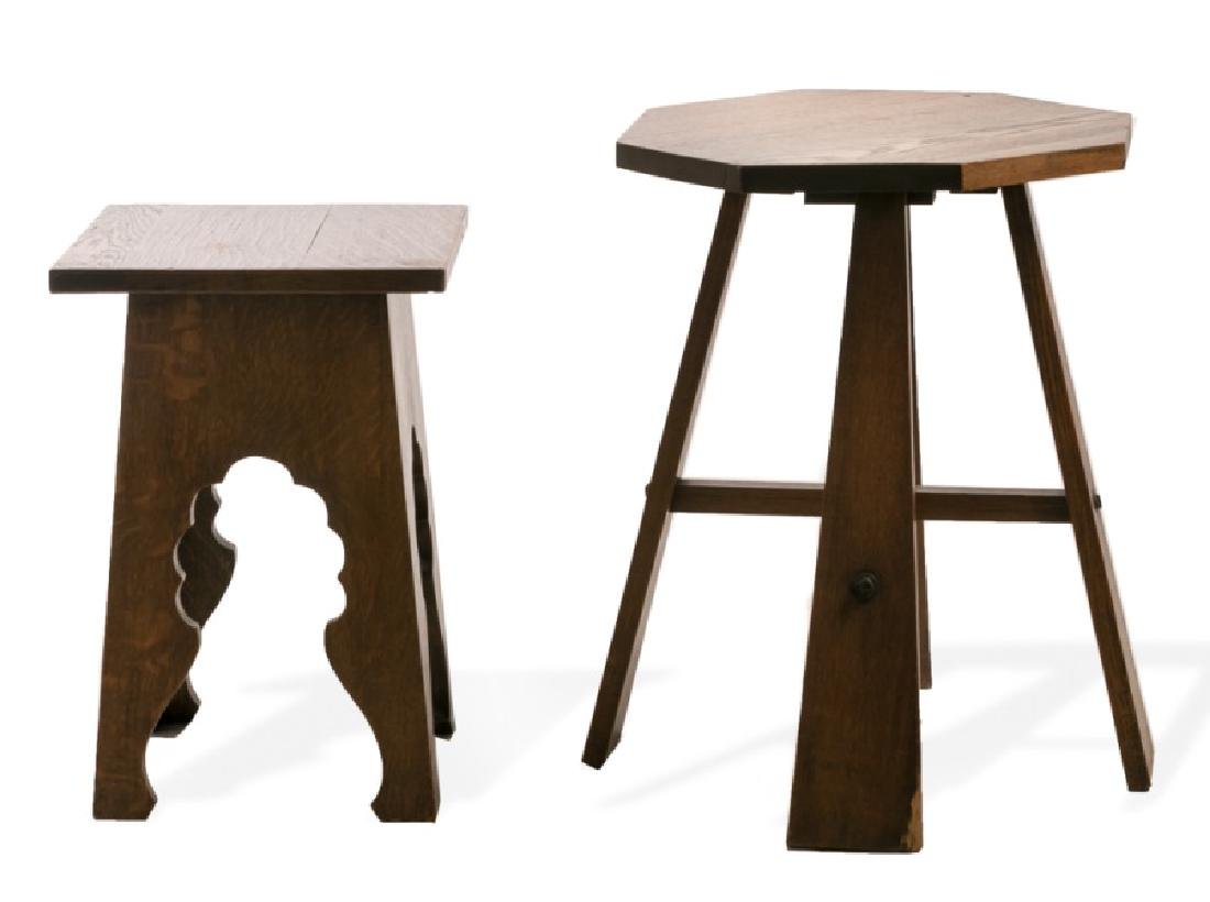 Two Arts & Crafts Oak Side Tables