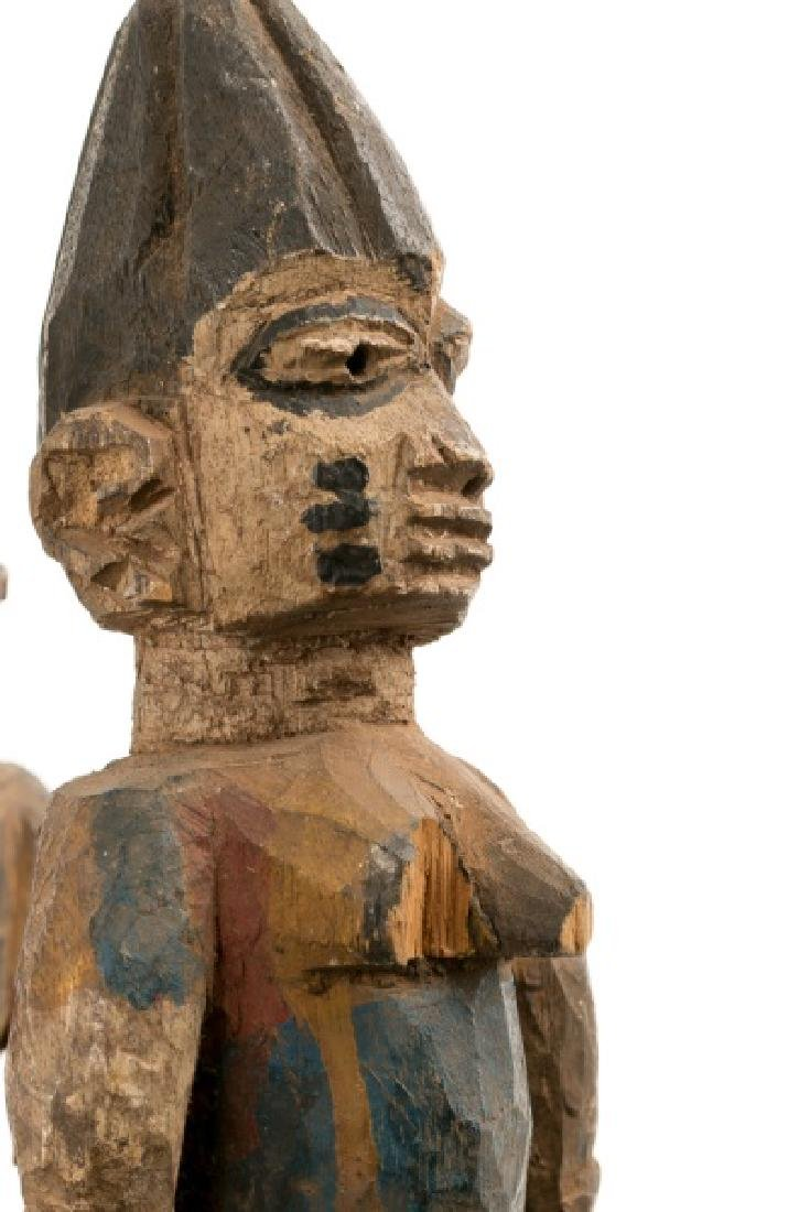 Carved Wood Figural Crown African Mask - 6