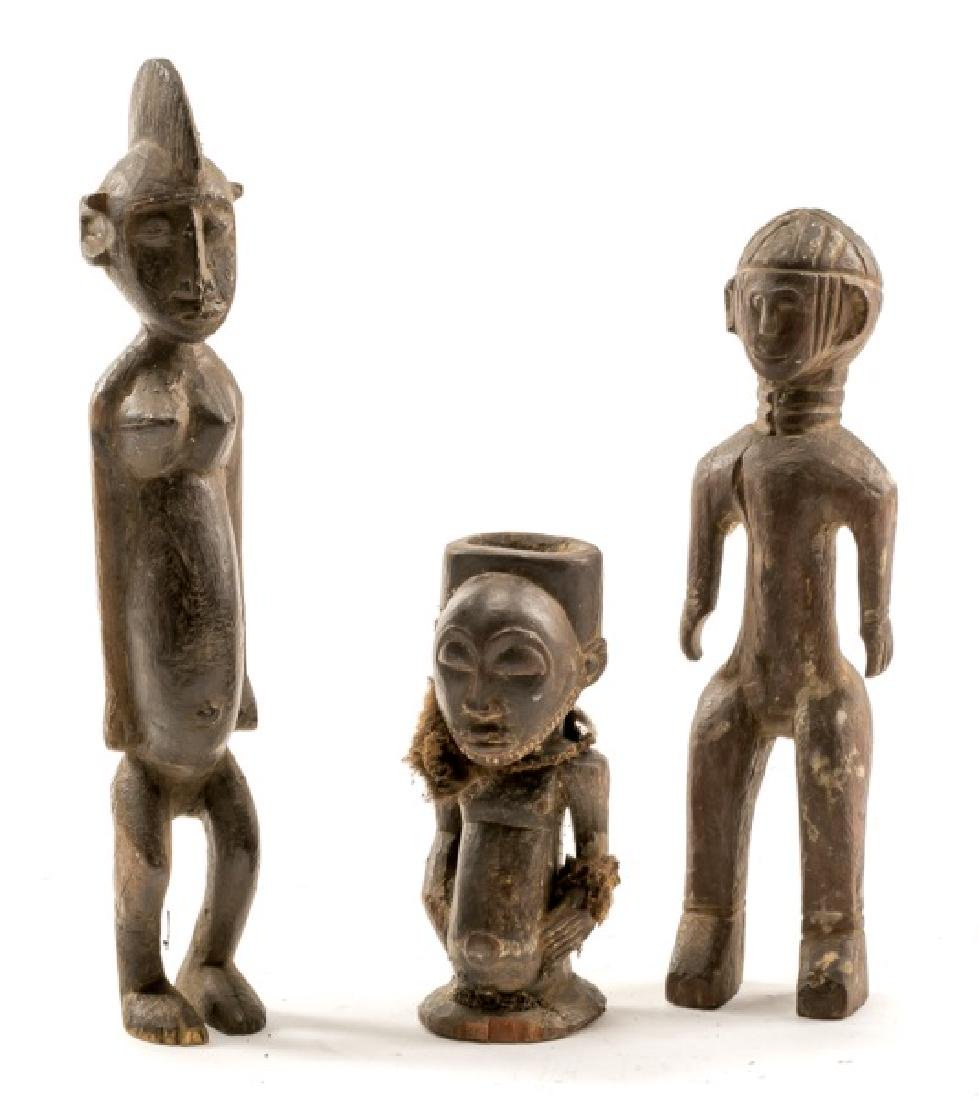 Group of 3 Carved Wood African Figures