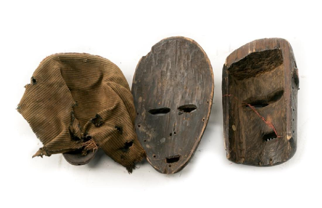 Group of 3 Carved Wood African Tribal Masks - 2