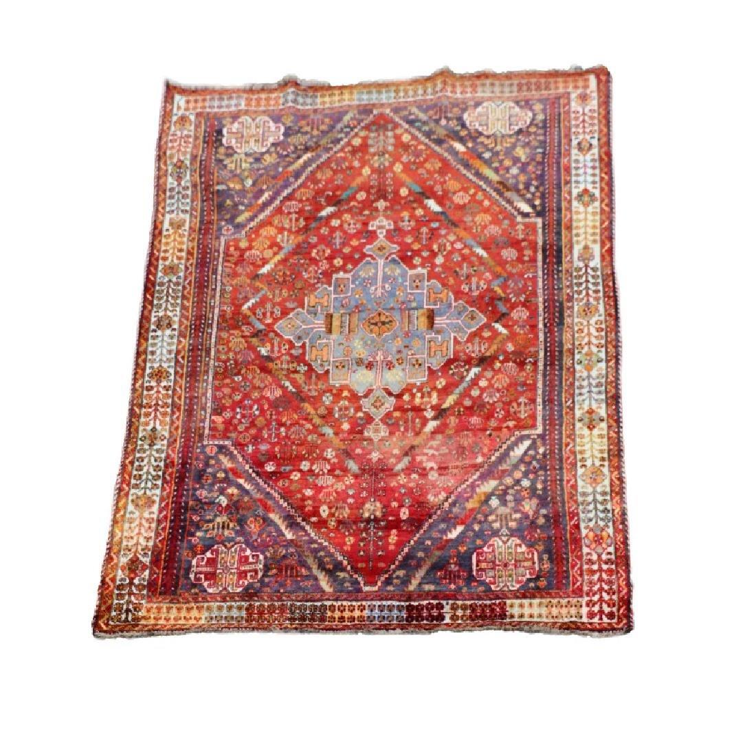 Hand Woven Qashghi Persian 5' 6'' x 8' 7''