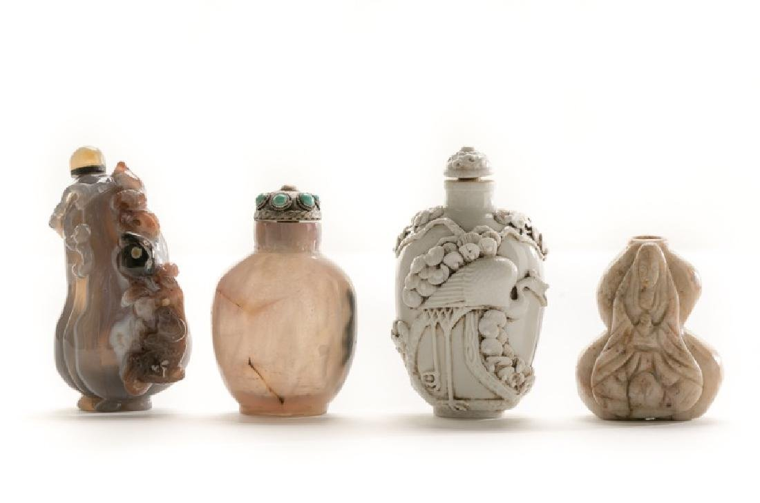 Collection of Four Chinese Snuff Bottles