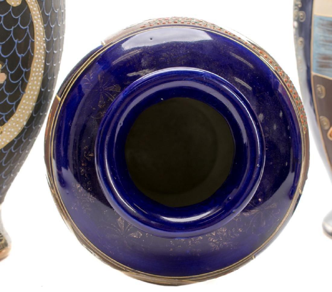 Group of 5 Blue Satsuma Vases - 5