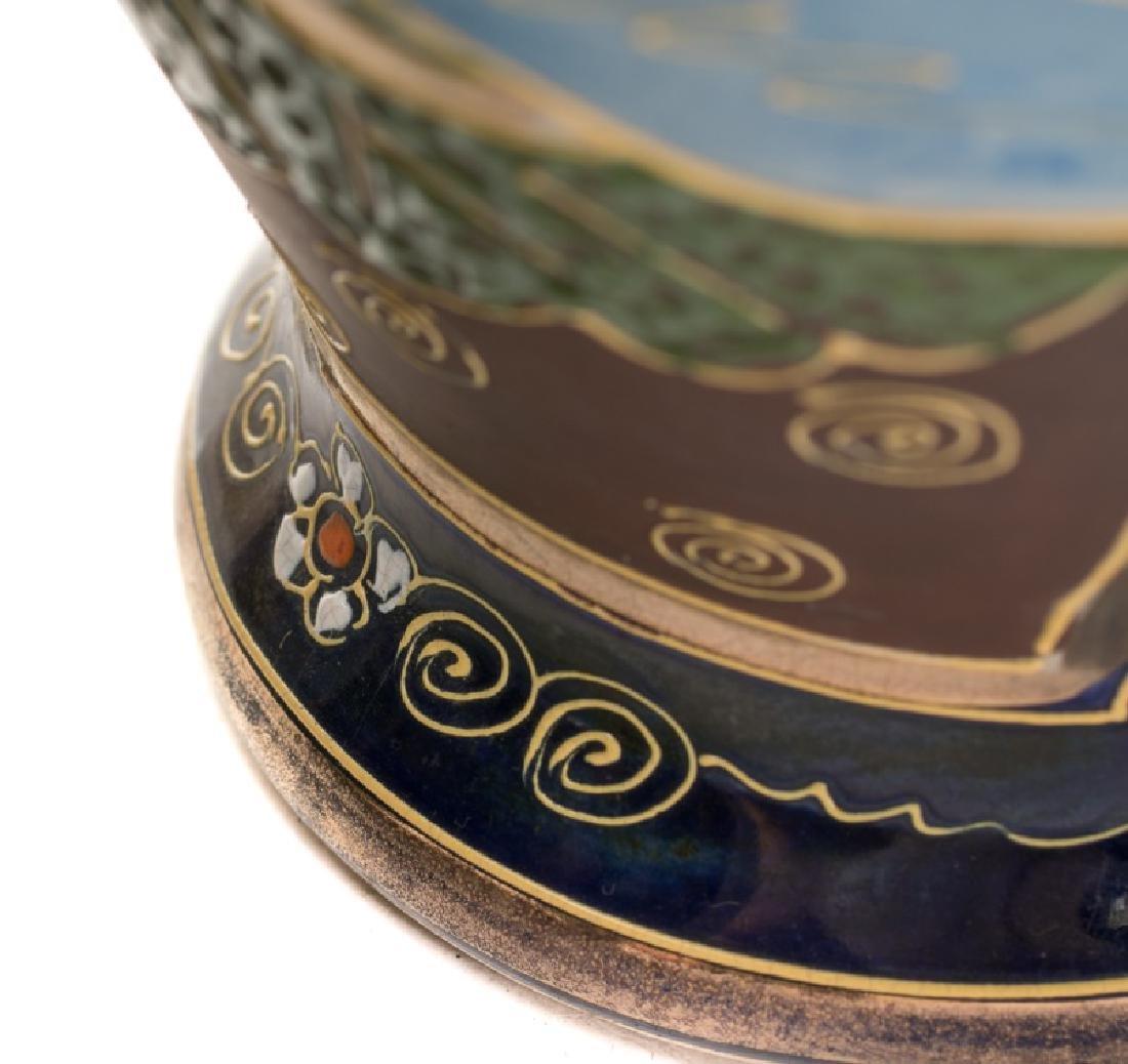 Group of 5 Blue Satsuma Vases - 6