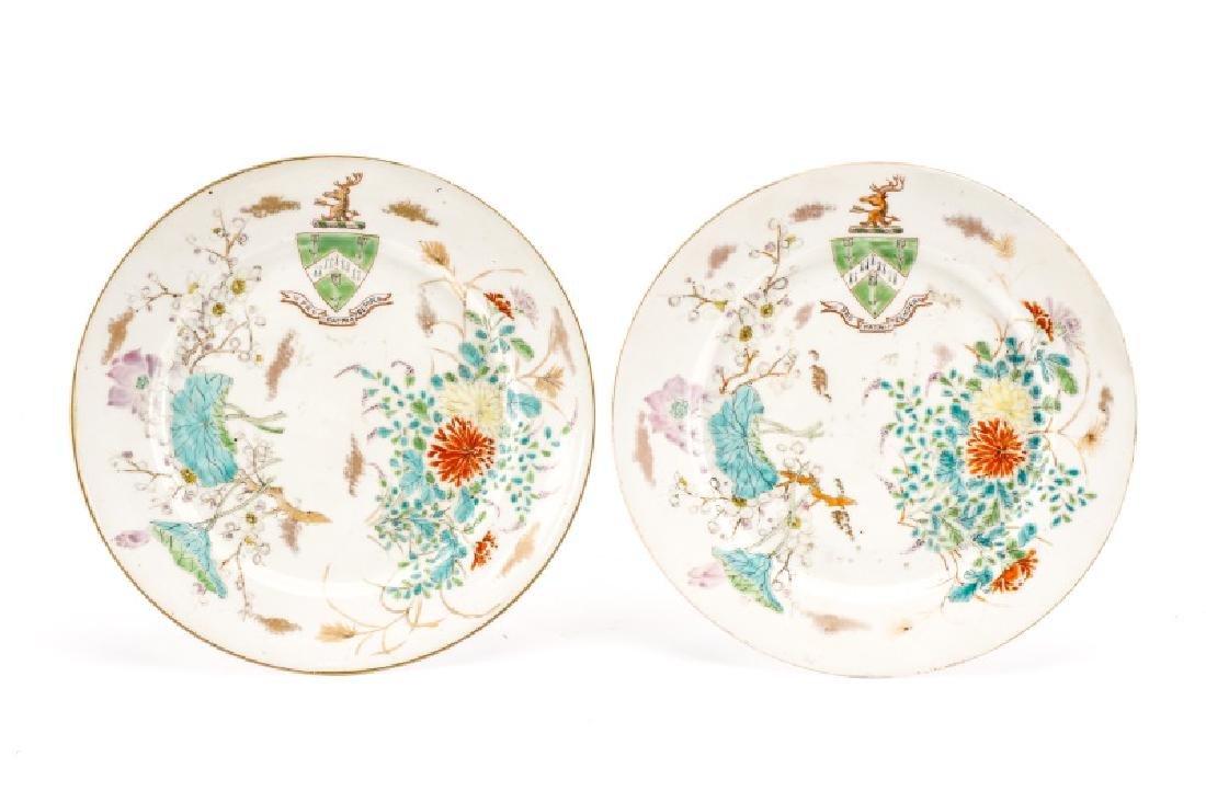 Pair, Japanese Export Armorial Porcelain Plates