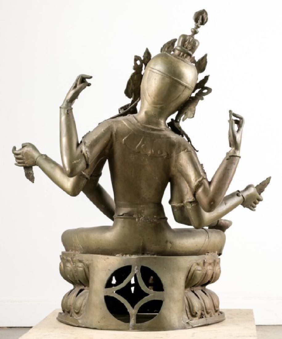 Impressive Large Southeast Asian Figure of Tara - 2
