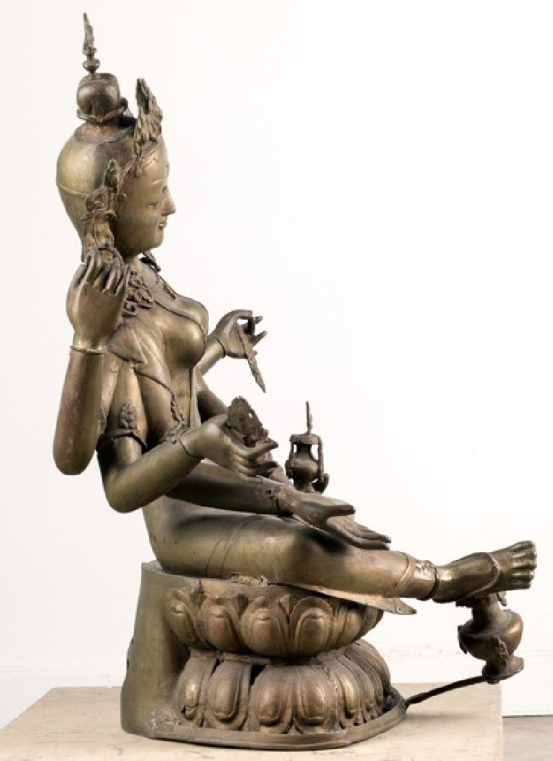 Impressive Large Southeast Asian Figure of Tara - 4