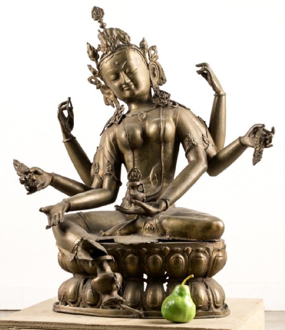 Impressive Large Southeast Asian Figure of Tara - 5