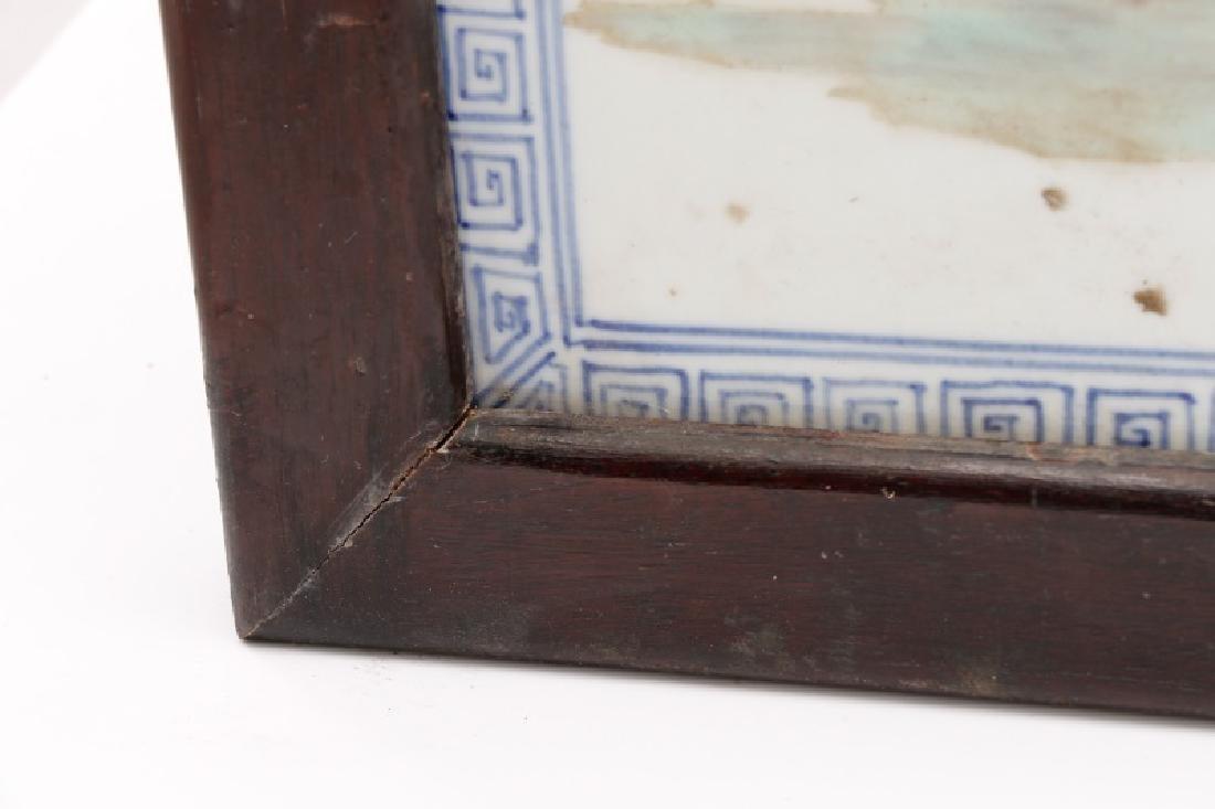 Chinese Porcelain Plaque Depicting Fu, Lu & Shou - 9